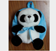 Hot sale plush panda bag Cute Blue Ribbon Panda Animal Plush Toy School Bag Backpack For Children Custom cute panda plush bag