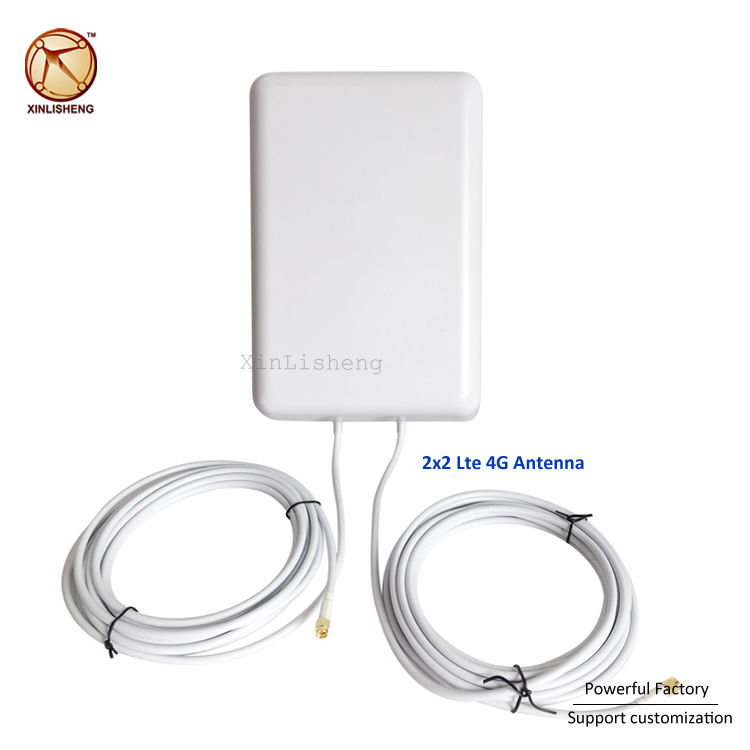 Wireless flat antenna 50km directional satellite antena 16dbi 2x2 mimo panel antenna 4g lte