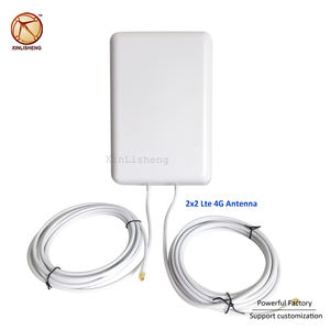 Antenne plate sans fil antenne satellite directionnelle 50km 16dbi 2x2 mimo antenne panneau 4g lte