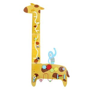 Preschool Classroom Wall Decoration Toys Giraffe Design Educational Wall Panel Toys For Kids
