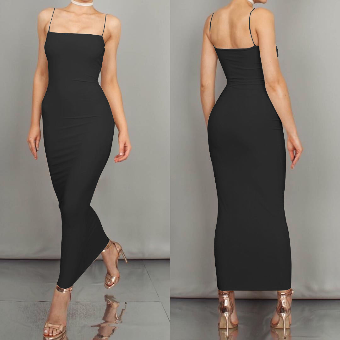 TOB 2019 fashion High elasticity long dress sling sheath sexy club wear party elegant dress for women