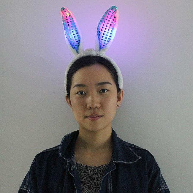 China Factory Led 빛 Bunny 귀 Headband 대 한 Girls Party