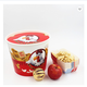 150oz disposable paper containers fried chicken bucket with lid