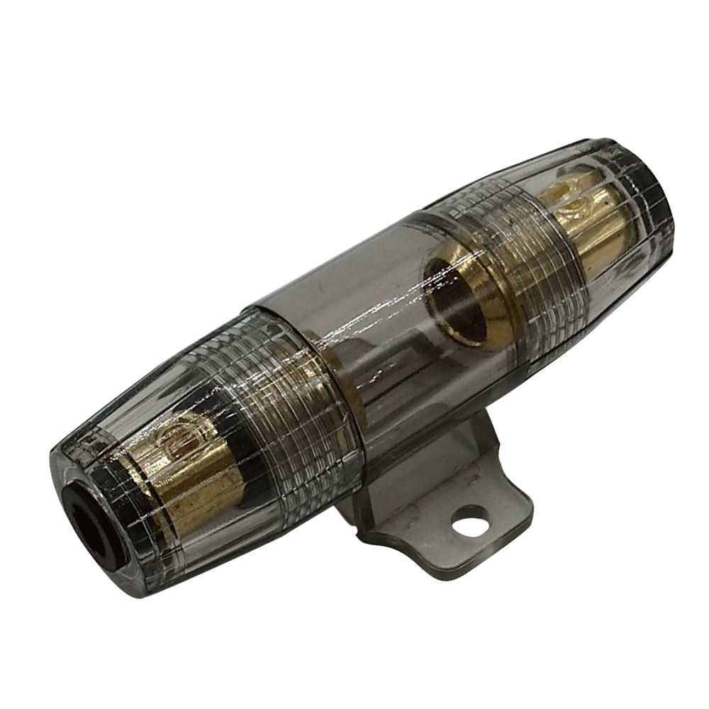 AGU FUSE HOLDER W// 1 35 AMP 4 6 8 10 GAUGE IN LINE GLASS AWG WIRE NICKEL 1