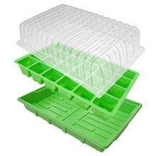 24-Cell Basic Propagator Seedling Starting Green House Grow Kit Garden Seedling Starter Trays