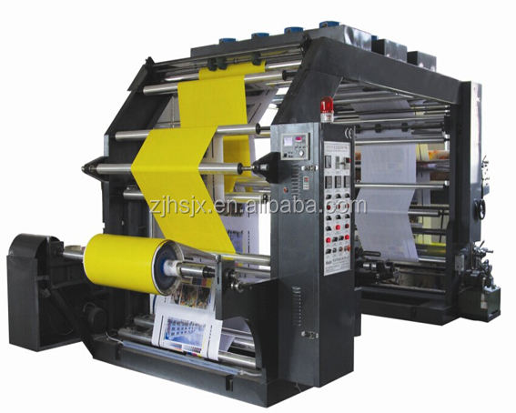 YTB-41200 Semi-Automatic 4 colour plastic bag paper roll flexo printing machine for non woven