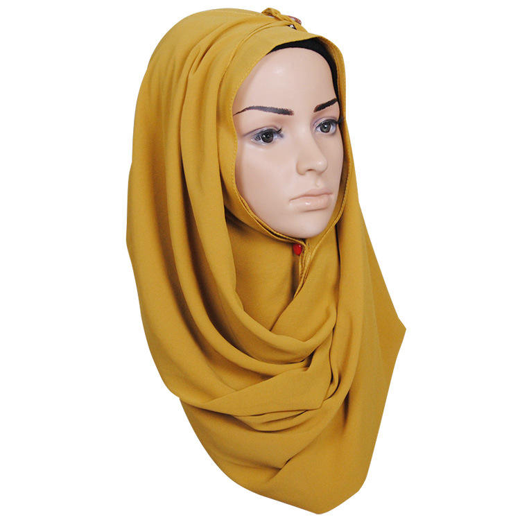 2018 New Fashion 180*75cm Bubble Chiffon Hijab Accessories Solid Color Jilbab Muslim Head Wrap Stylish Scarf