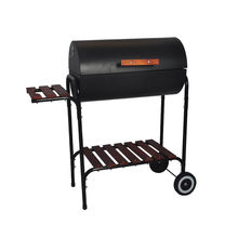 SERJ Barrel&Square Charcoal Barrel BBQ Grill Rack Outdoor Germany Barbecue Grill Machine with Wheels