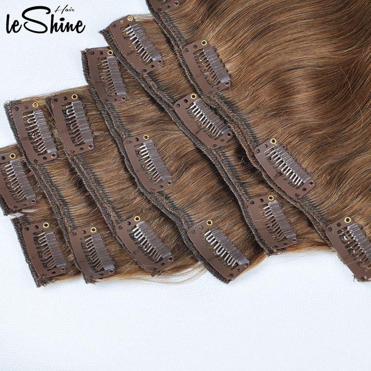 100% Human Hair Extension Clip In 100% Remy Hair Seamless Natural Hair Clip Ins Extensions Wholesale Clip In Hair Extension