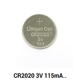 Ewt Brand Li-MnO2 OEM cR2020 3.0V Lithium Battery with blister card Button cells