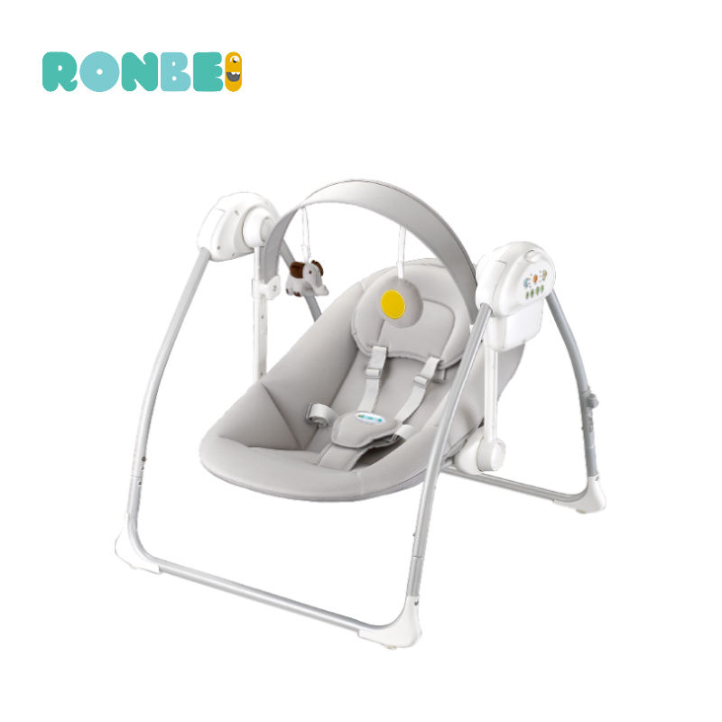Fashion design electric baby swing bed with music