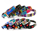 Bohemia Pattern Adjustable Durable Canvas Dog Collar Pet Safety Buckles Dog Collar Custom