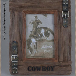 Cowboy Belt Photo Frame Polyresin Home Decor