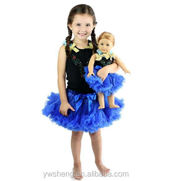 Wholesale Girls and Doll Matching pettiskirt clothing Set for Girl & Doll