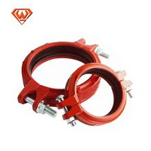grooved pipe fitting Rigid Flexible coupling with red color