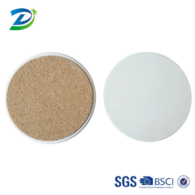 Round shape blank white ceramic absorbent coaster