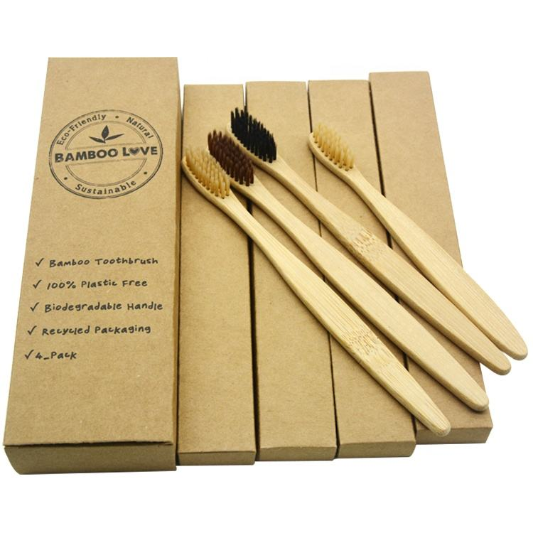 Professional eco-friendly biodegradable organic soft bamboo charcoal toothbrush