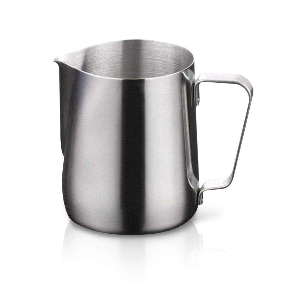 Stainless Steel Milk Frothing Pitcher Cappuccino Pitcher Pouring Jug Espresso Cup Creamer Cup for Latte Art 12 Ounce (350 ML)