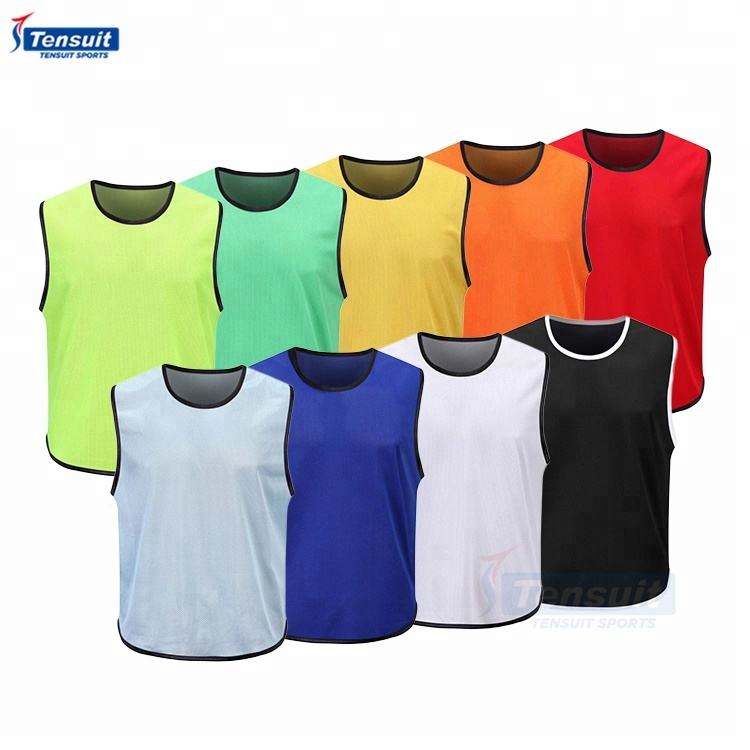 cheap reversible mesh football training vest youth adult sports soccer bibs