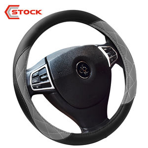 Anti-Slip Custom Auto Car Steering Wheel Cover Leather