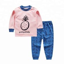 Good quality multi design cotton O-neck children pajamas