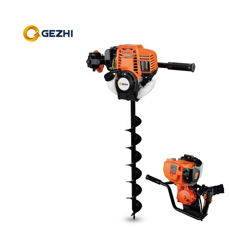 2 stroke powerful 63cc speed holding design earth auger