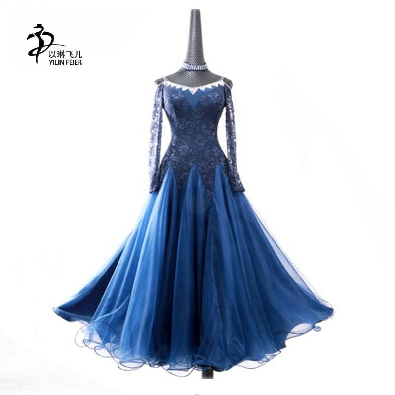 Women Competition international standard ballroom dance dress