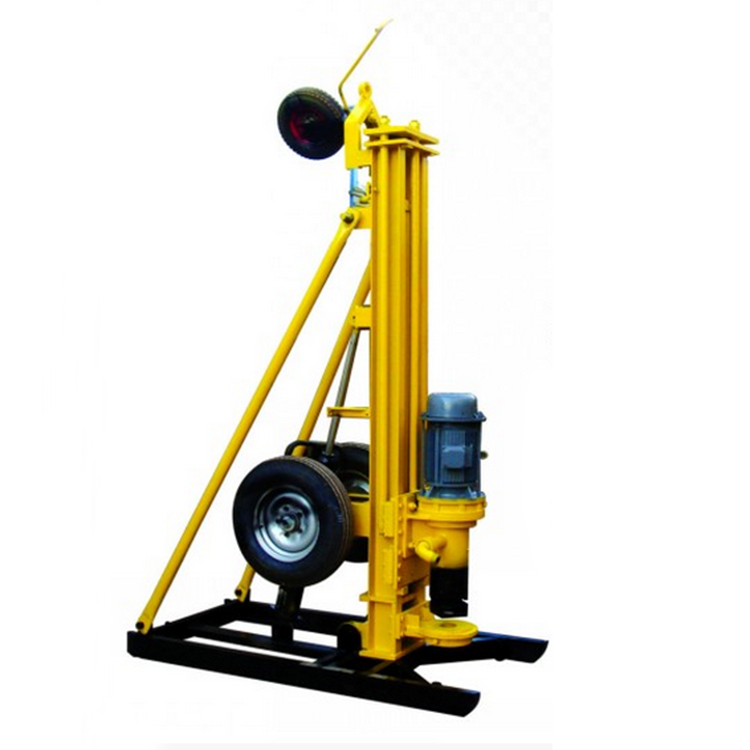 wheel type Multifunction DTH Pneumatic mining drill rig; Blasting Rotary Drilling Rig for sale