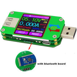 UM24 2.0 Color LCD Display USB Voltage Meter Current Tester Voltmeter Amperimetro Battery Charge Measure Cable Resistance