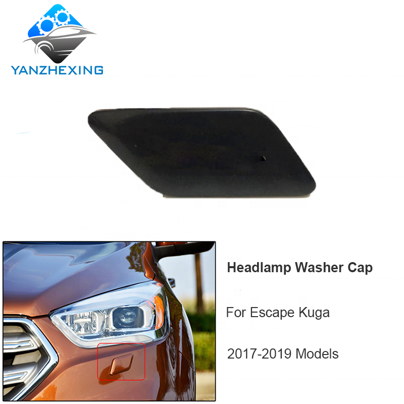 Bumper Headlight Headlamp Washer Jet Cover Cap for Ford Escape 2013-2016