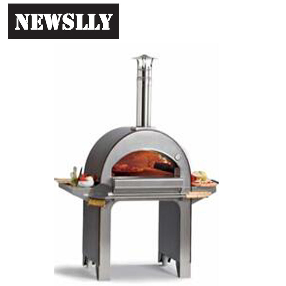 2018 hot Full stainless steel outdoor wood fired pizza oven wood stone pizza oven wood burning stainless steel pizza oven