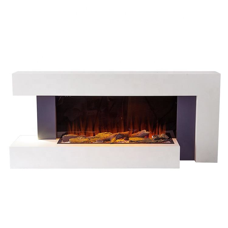 Building Antique White Electric Fireplace Indoor
