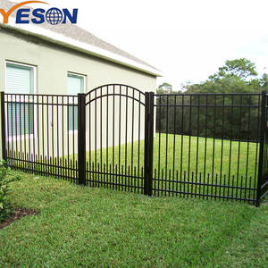 Custom cheap metal wrought iron garden gate