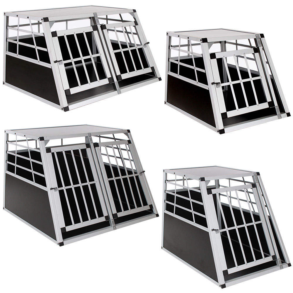 Small portable single door Aluminum dog cage pet products Alu house