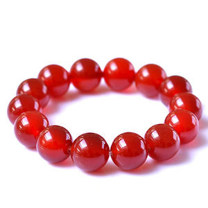 Fashion Charm Red Jade Bracelets High Quality A Class Natural Red Agate Bracelet Gemstone Stretch Beaded Bracelet for Women
