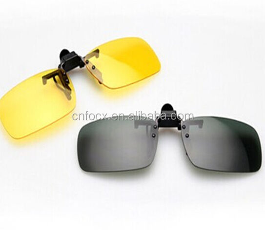 Wholesale Night Vision clip , Clip Driving Glasses , Night vision clip on Sunglasses