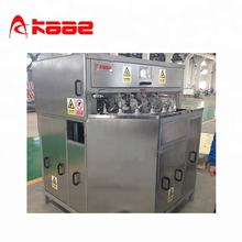 Automatic apple peeling/pitting/cutting machine
