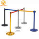 910mm Retractable Belt Barrier Galvanized Stainless Steel Stanchion