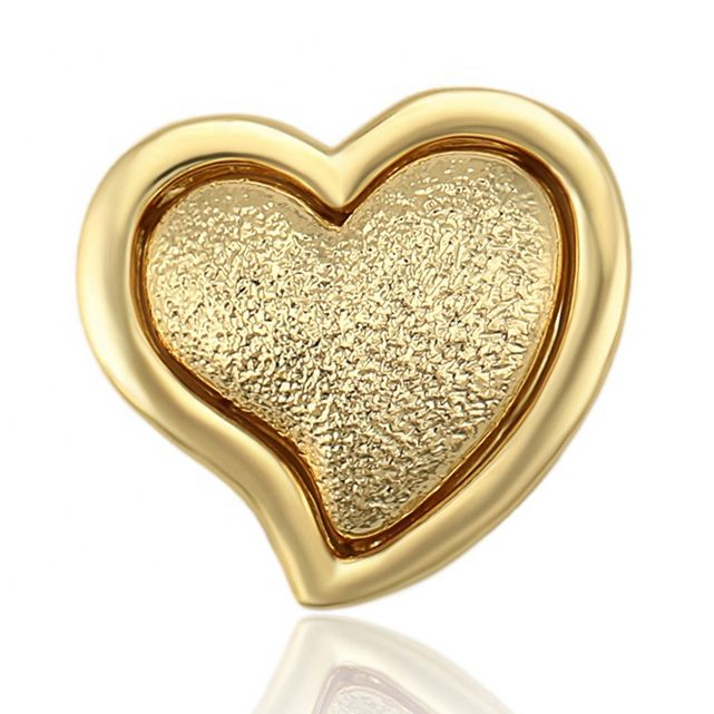 34738 xuping jewelry making supplies removable simple design copper charm 14k gold color promotion wholesale heart pendants