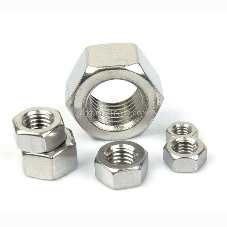 DIN934(GB6170) Hex Nuts M6/M8/M12/M16/M18 Gr4 with Natural Black Hardware Fasteners Black Zinc Plated Hex Nuts
