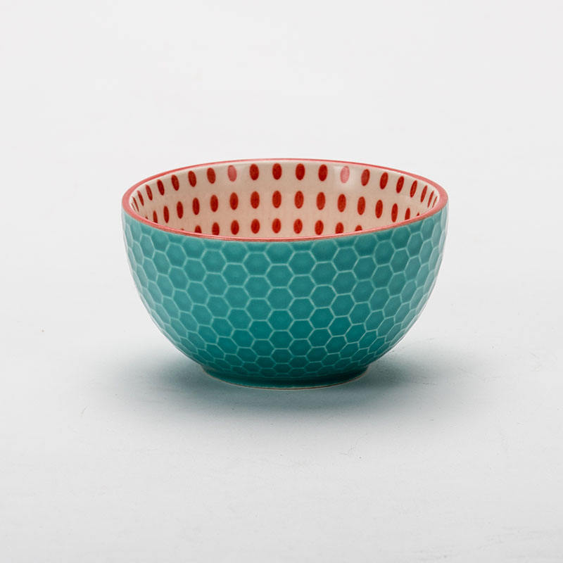 wholesale good price high quality emboss ceramic bowl