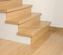 Natural Prefinished White Oak Wood Stair Tread