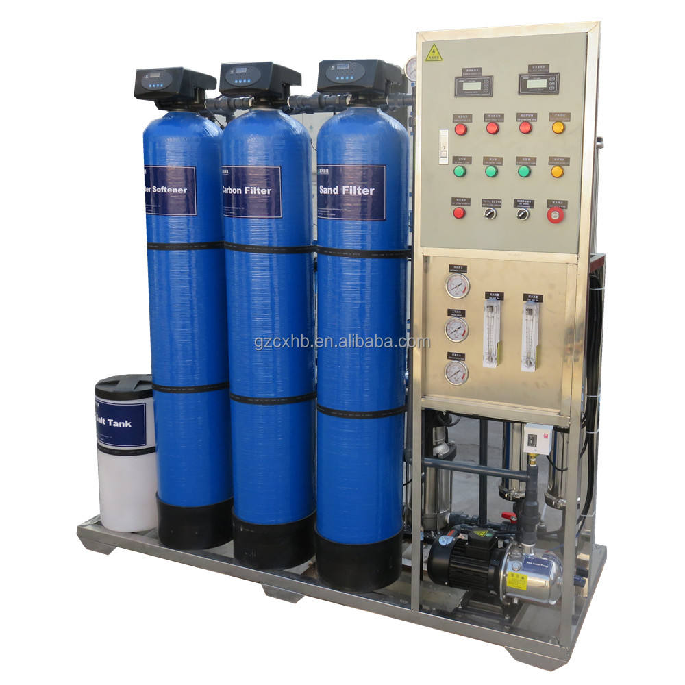 500LPH industrial small drinking salt water treatment reverse osmosis system RO plant