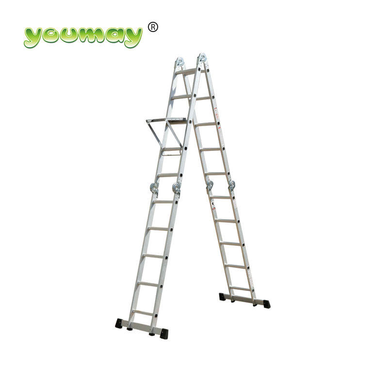 EN 131 multi purpose portable aluminium ladder platform