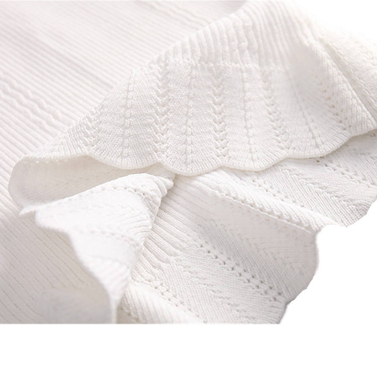 Lady's Summer Light Sweaters White Color Thin pullover Knitwear Women