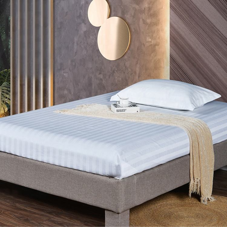 100% Cotton Hotel Queen Size Bedding Set Bed Sheet