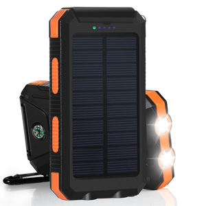 PowerGreen Dubbele Uitgang Sunpower Rugzak Solar Lader 10000 mAh Mobiele Zonnelader voor Mobiele Telefoon