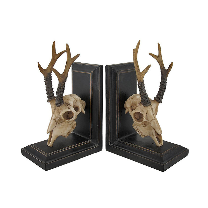 Resin Deer Skull and Antlers Wholesale Bookends