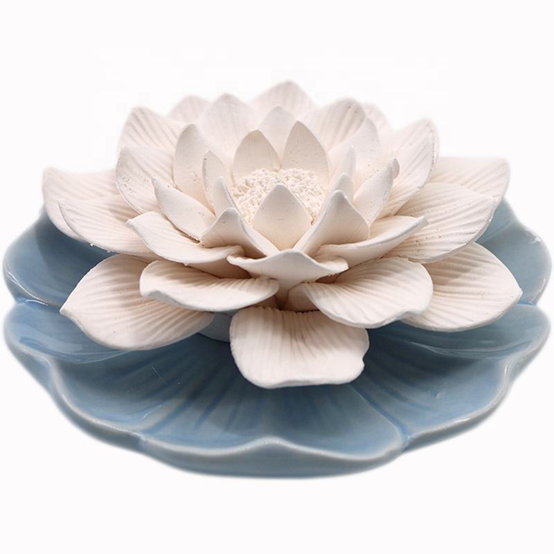 Stocked Ceramic Flower Decoration Home Fragrance Oil Scented Aroma Reed Incense Diffuser