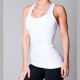 White Fitness Racerback Womens GYM Yoga Tank Tops Dry Fit Shirts